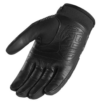 New Icon Gloves 29er Leather Motorcycle Street Bike Armor Pink Womens
