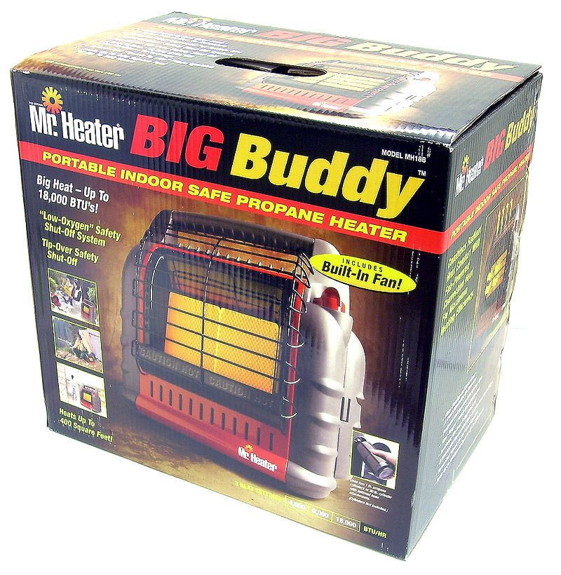 Mr. Heater Portable Big Buddy Propane Gas Heater MH18B Indoor Outdoor