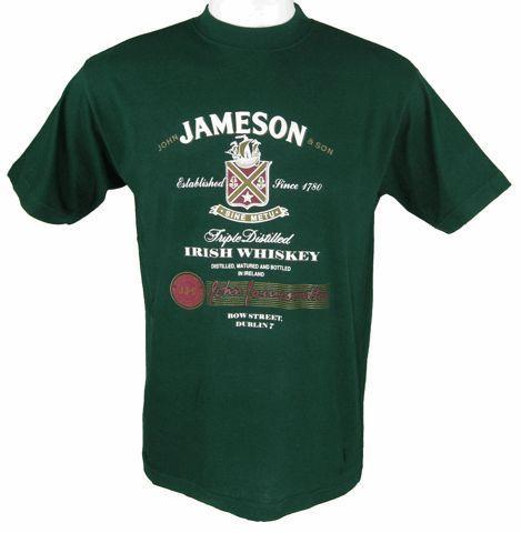 Jameson Irish Whiskey Green T Shirt