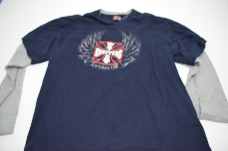 Jesse James West Coast Choppers Long Sleeve Two Tone Shirt XL Extra