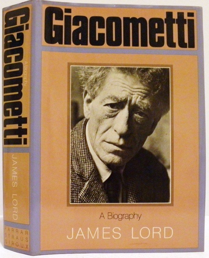 Giacometti A Biography by James Lord 1st Ed Fine Fine