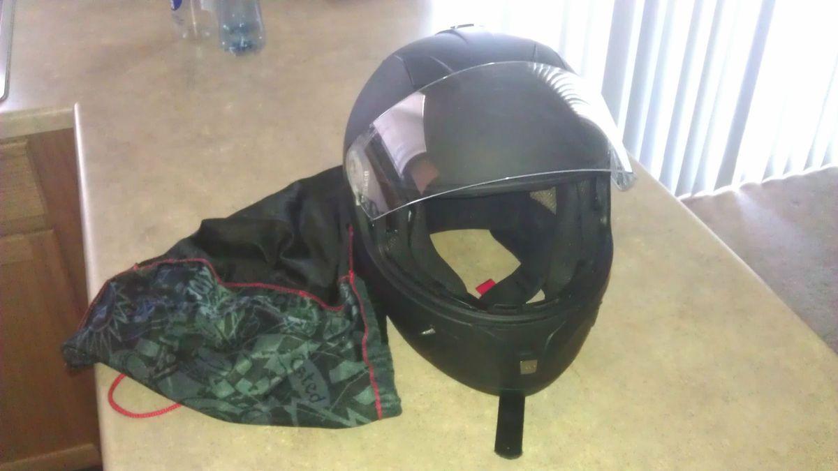 Flat Black Z1R JACKAL Full Face Helmet RUBATONE Motorcycle Bike DOT