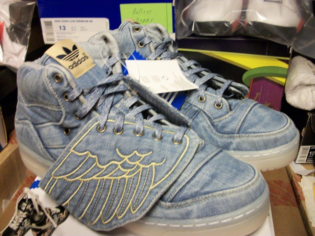 Adidas Jeremy Scott Denim Edition Wings Flag Flames Teddy Bear YOTD
