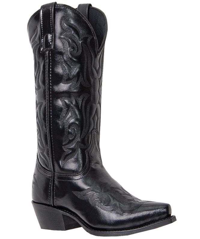 Mens LAREDO Hawk Western Cowboy Boots Leather Wide E W Snip Toe Black 6860