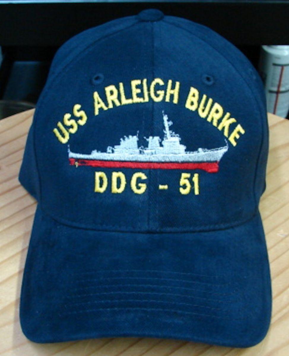 USS John Paul Jones DDG 53 Embroidered Hat Cap