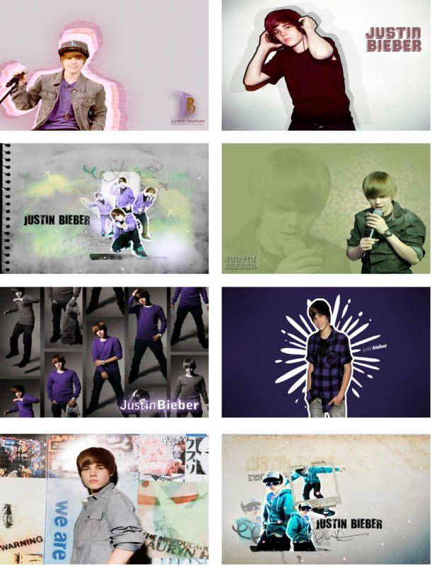 Justin Bieber Laptop Netbook Skin Cover Sticker
