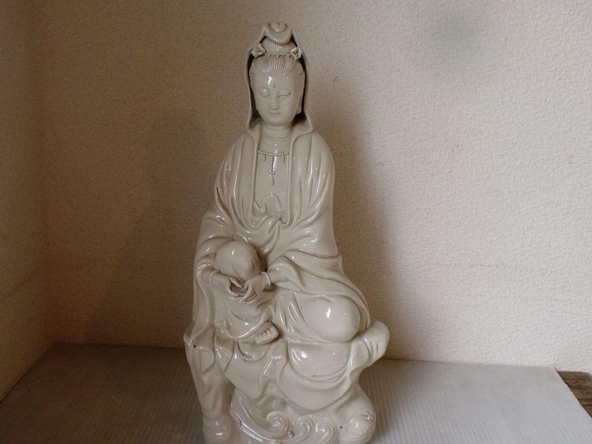 or Chinese Porcelain Figurine Kwan Yin Buddha Kannon Statue
