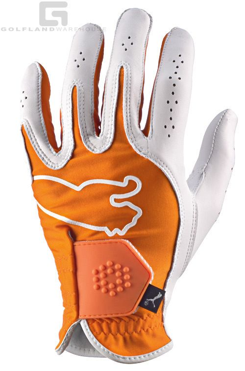 Puma Monoline Performance Mens Left Hand Golf Glove Orange New PRESALE