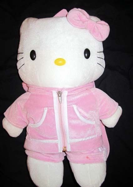 Sanrio Hello Kitty plush toy pink jogging suit backpack knapsack purse