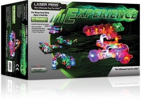 Laser Pegs Experience 57 models LED Lighted Construction Kit Construct