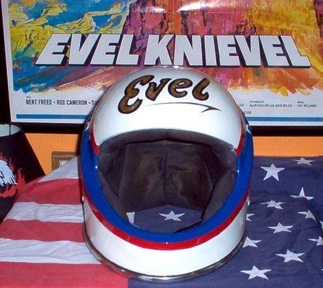 Vintage Evel Knievel Lear Siegler Collectors Motorcycle Helmet