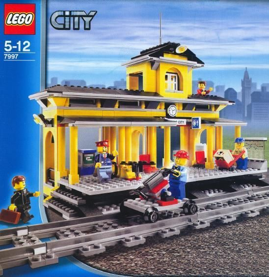 Lego City Town Train 7997 Train Station Instructions Only
