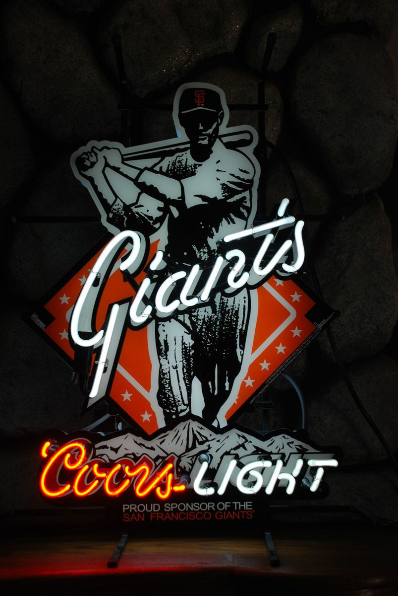 MLB San Francisco Giants Neon Pub Sign Coors Light (Billiard Room