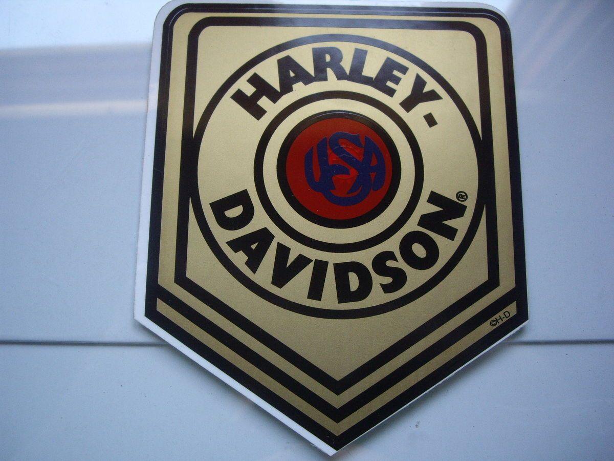 Vintage Harley Davidson Motorcycle Window Sticker Decal Old HD