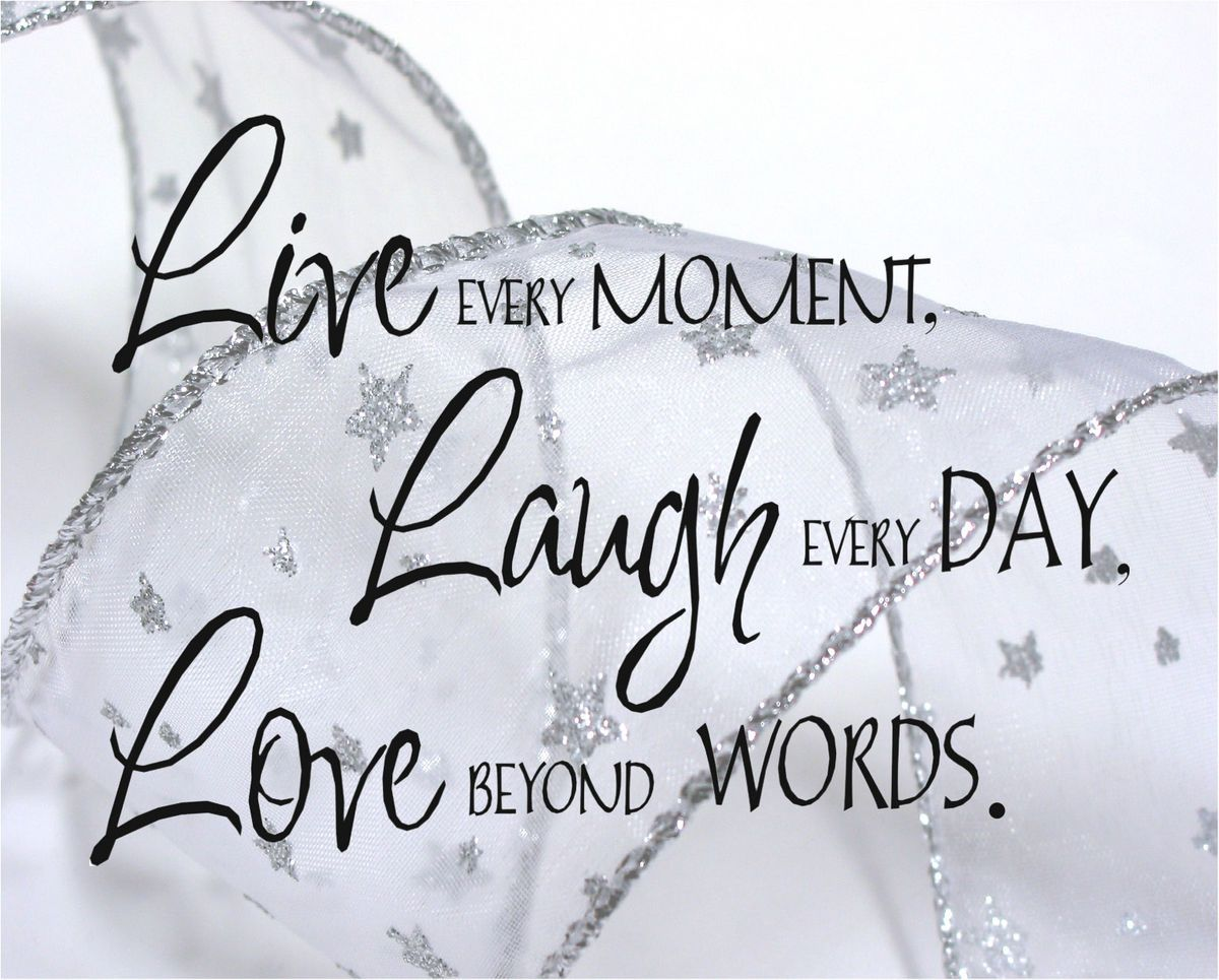 Live Laugh Love Quote Print Home Picture Decor Wedding Buy 1 Get 1