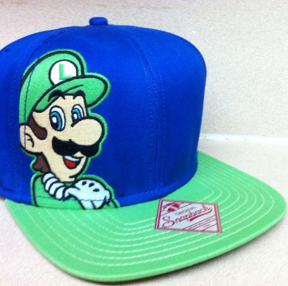 New Luigi NES Nintendo Super Mario Bros Era Snapback Hat Cap World