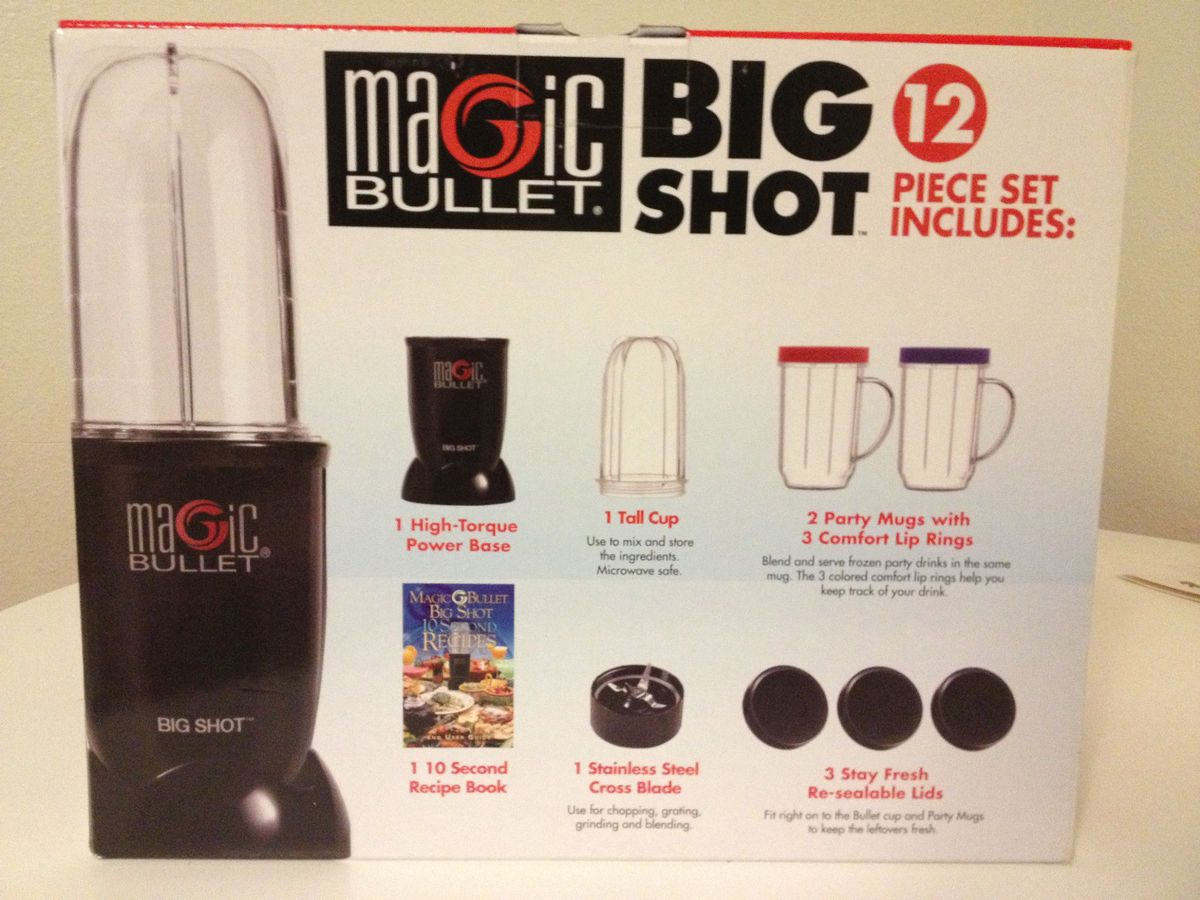 Magic Bullet Big Shot Blender 12 Piece SEALED in Box