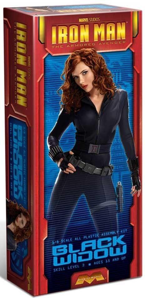Moebius Marvel Studios BLACK WIDOW model kit from the Iron Man Movie 1