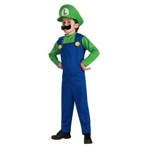 Super Mario Luigi Boys Costume Size 4 6