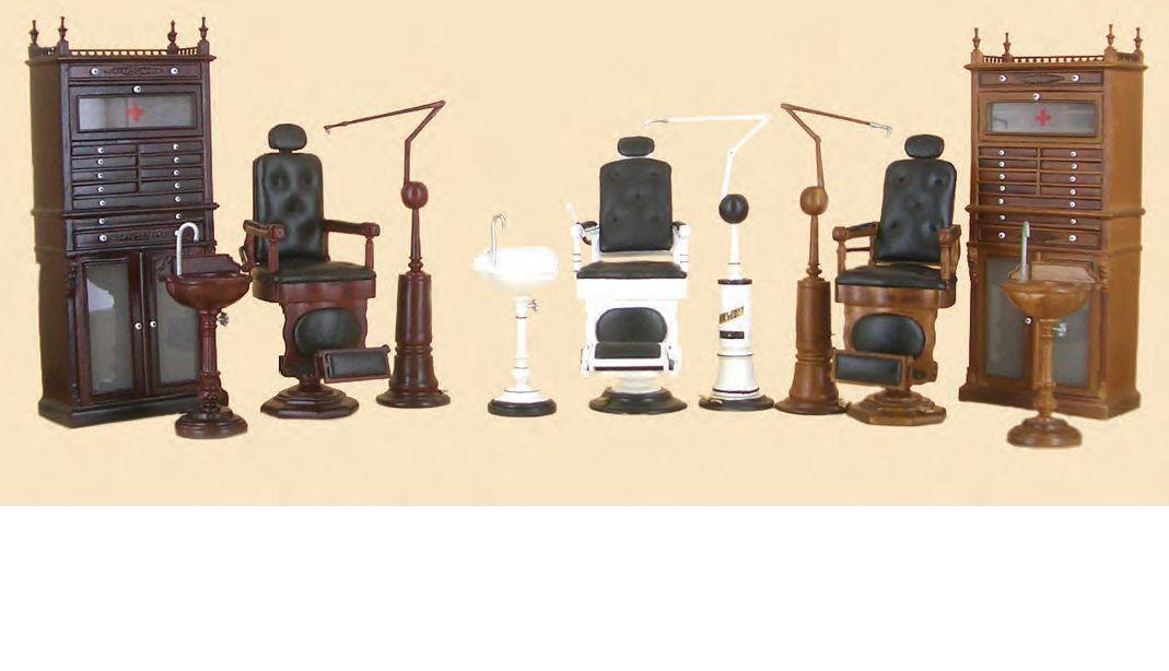 miniature Bespaq furniture Dental medical doctor office set vintage