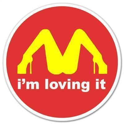 Loving It McDonalds Funny Car Bumper Sticker Window Decal 4 x 4