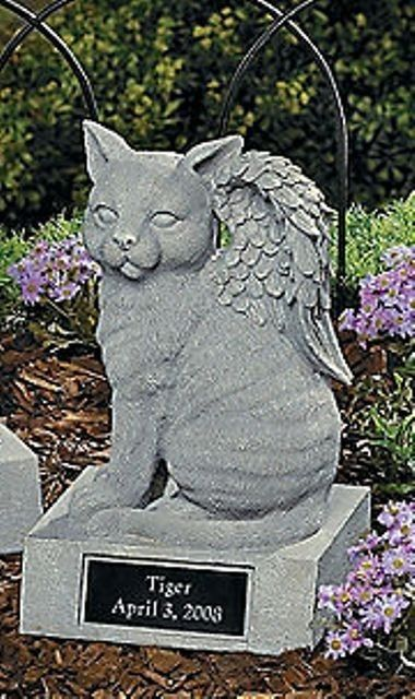 Personalized Cat Memorial Statue with Angel Wings Garden Figurine New