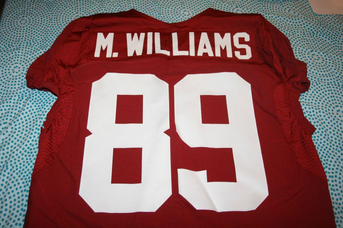 Alabama Crimson Tide Game Used Worn Jersey 89 Michael Williams