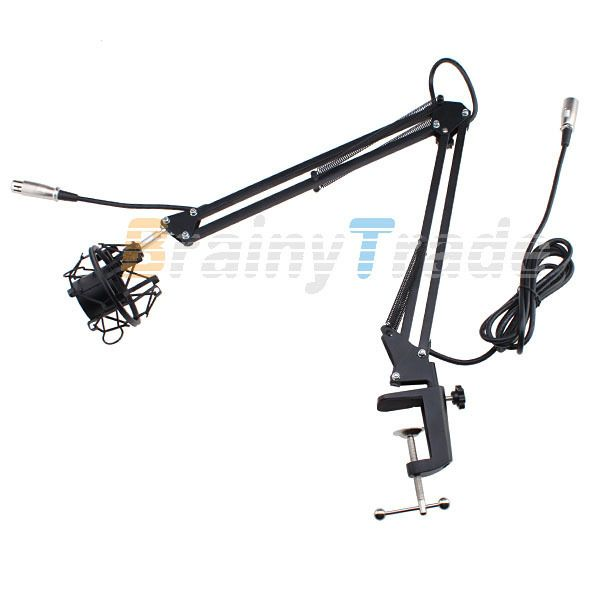 Broadcast Studio Microphone Mic Suspension Boom Scissor Arm Stand w