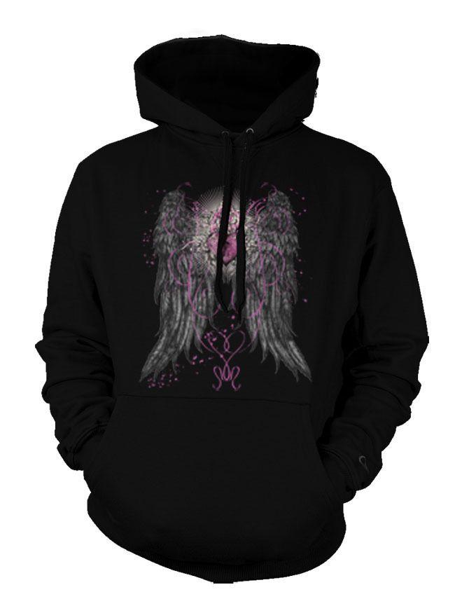 Angel Wings Heart Lock Cool Tattoo Trendy Nice Hoodie