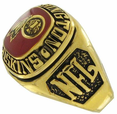 Balfour Ring Football Nfl Team Washington Redskins Sz 12