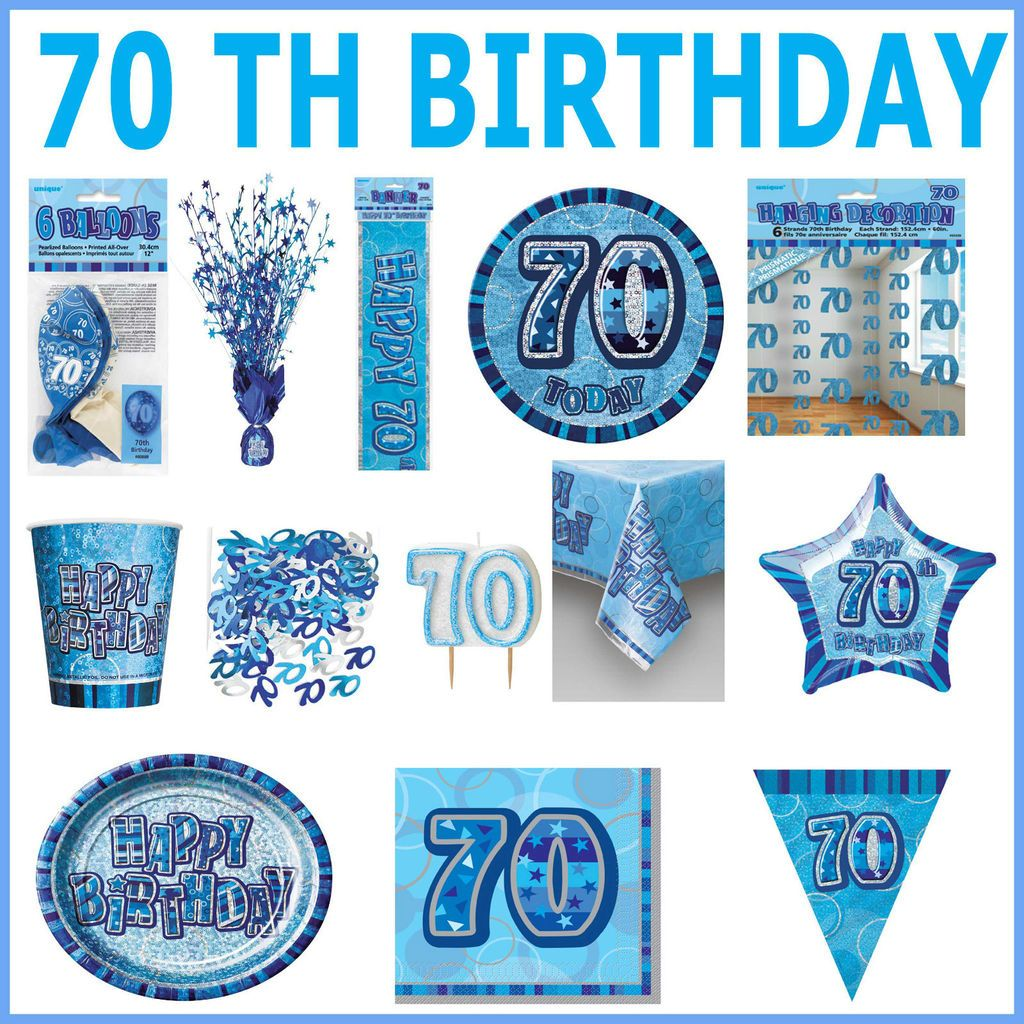 70th Birthday Party Items Balloons Banners Napkins Plates More