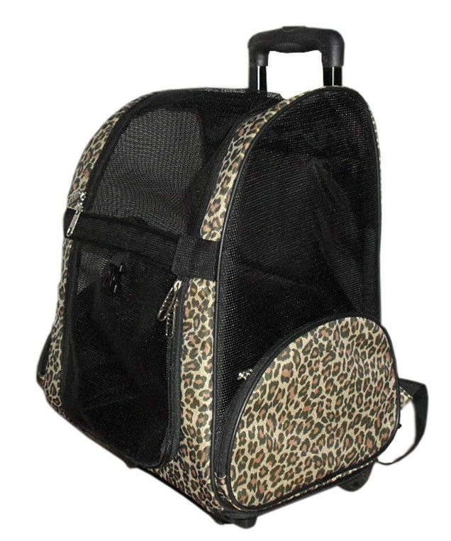 PET TRAVEL BAG / BACKPACK or ROLLING CARRIER ~ CHEETAH PRINT ~ AIRLINE