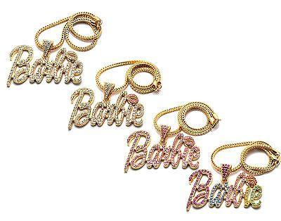 Nicki Minaj Iced Out BARBIE Pendant Necklace Large w/20 Franco