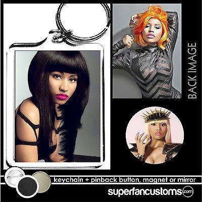 Nicki Minaj KEYCHAIN + BUTTON or MAGNET pin badge key ring #1056
