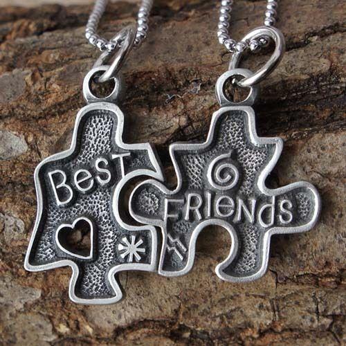 Jigsaw Puzzle best friends Love Friendship bestfriends split pewter