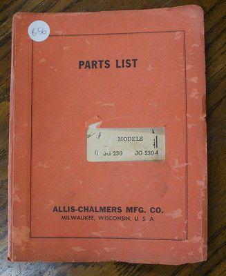 Allis Chalmers Jg 230 Vintage Forklift Parts Manualbookli St Fork