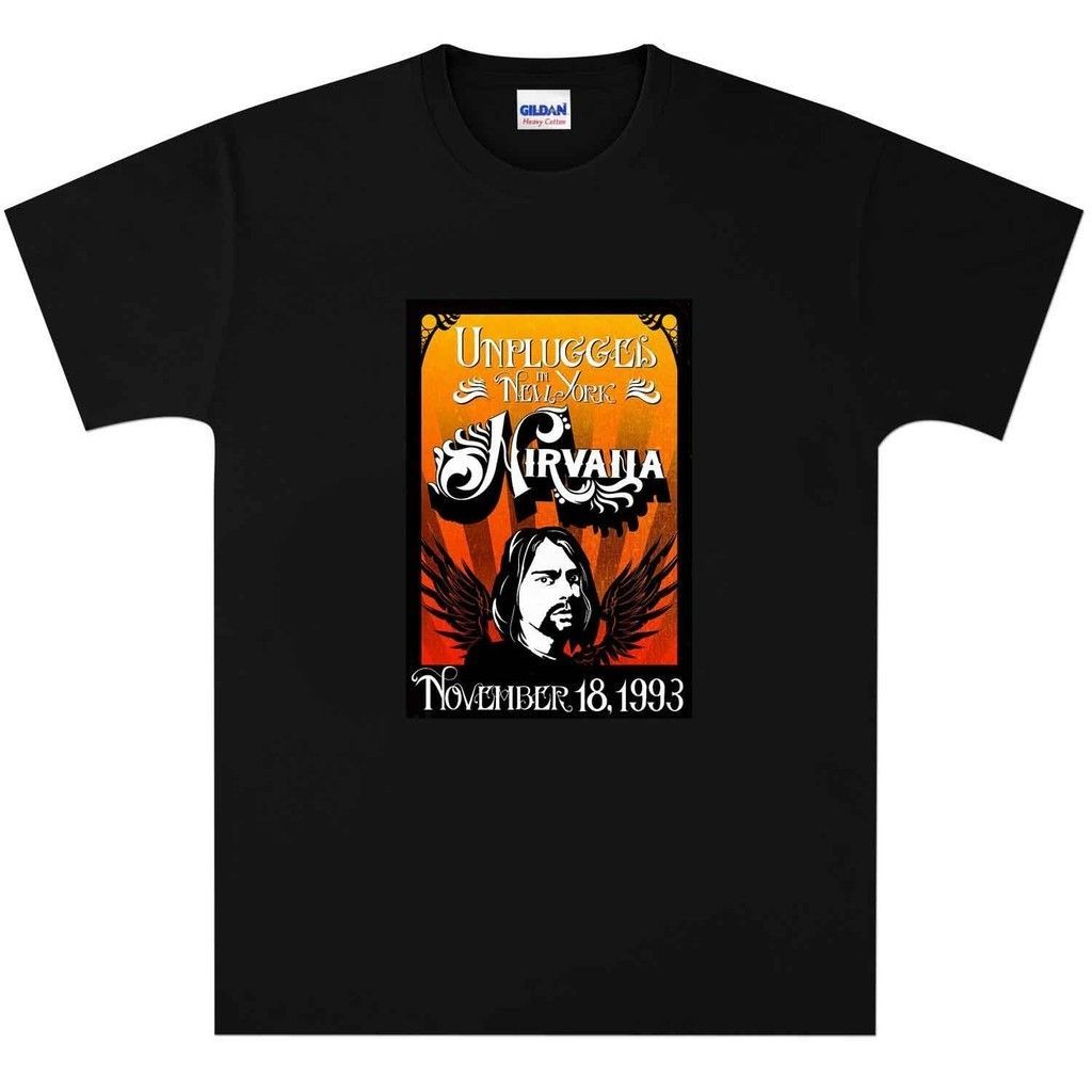 Nirvana Kurt Cobain 1993 Concert T Shirt New Black or White