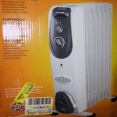 Filled Convection Radiator Electric Room Air Heater Portable HO 0250