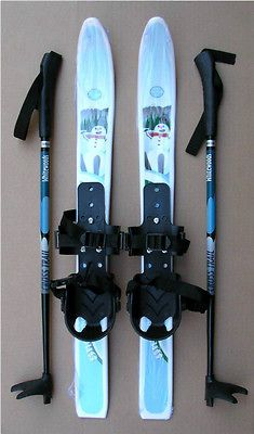 KIDS XC cross country SKI SET  SKIS/BINDINGS /POLES   No Wax