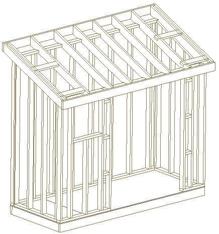 4x10 Slant Roof Shed 26 Garden Wood Shed Plans Barns 3d