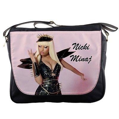 Nicki Minaj Pink Black Messenger Bag Shoulder Bag Satchel Schoolbag 4