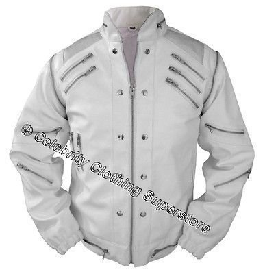 Michael Jackson   WHITE BEAT IT Jacket (S,M,L,XL,XXL)
