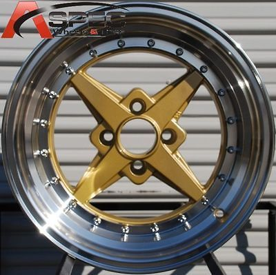 ROTA ZERO PLUS 4X100 +20 ROYAL TOMMY GOLD WHEEL FITS INTEGRA CIVIC XB