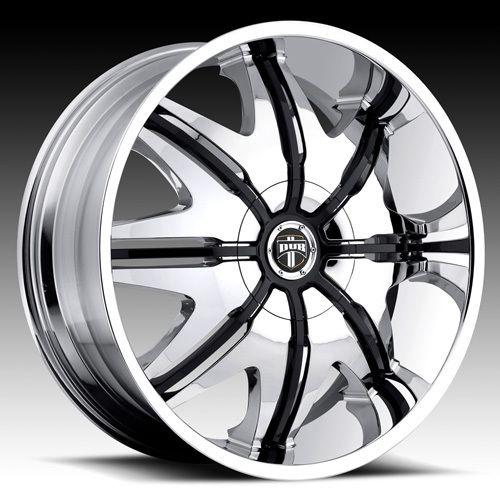 STYLE Wheel SET 26x9 5 Chrome Rims for RWD 5 6 8 LUG DOGGIE STYLE
