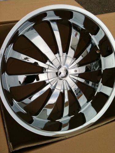24 Chrome Rims 5x127 135 Tires Chevy Ford GMC F150