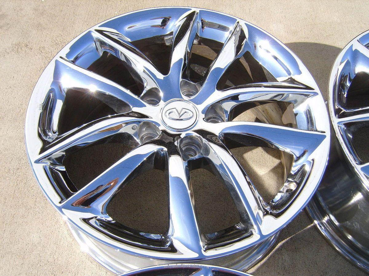 07 08 09 Infiniti G35 17 Chrome Alloy Wheels Rims 5x4 5 10 Spoke