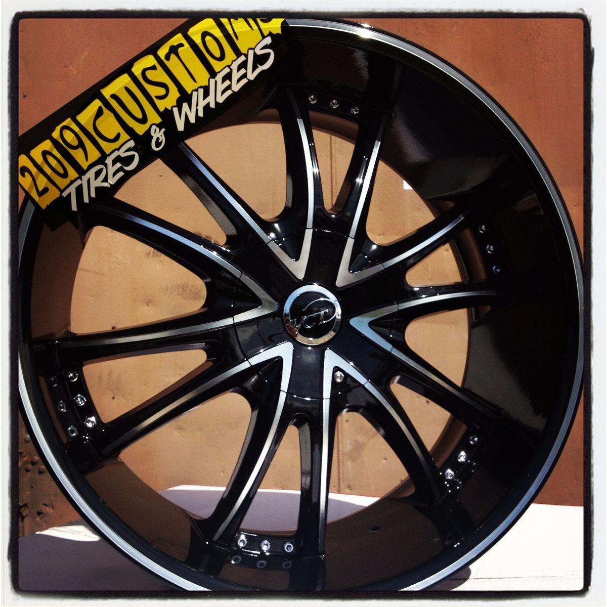 22 inch 22 Bossini VCT Black Wheels Rims Tires Blazer s 10 Camaro Z28