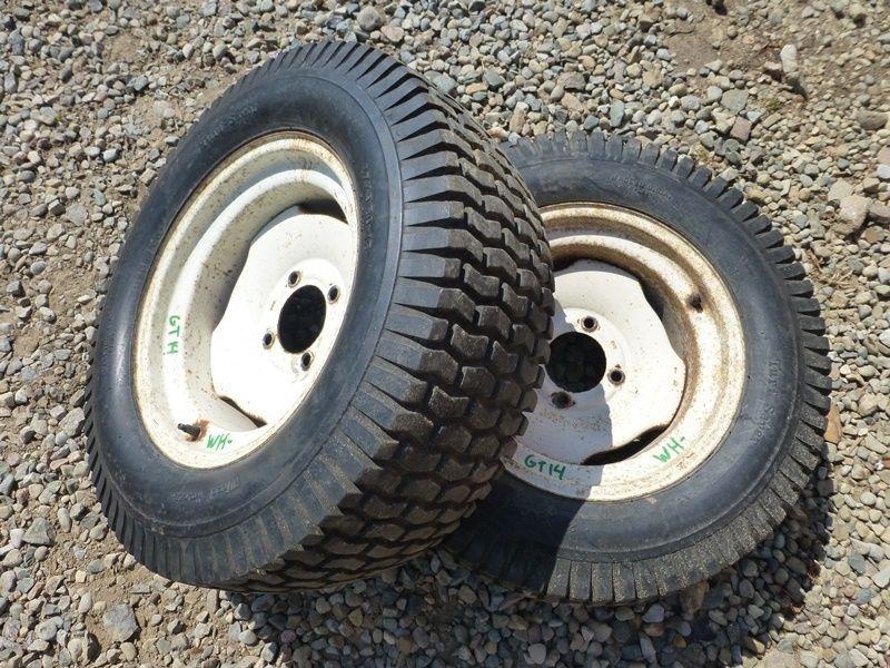 Rear Tractor Rims 15 In : Wheel horse gt tractor rear tires rims