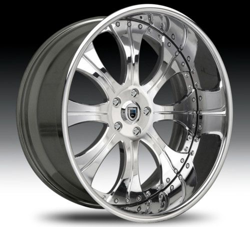 24 asanti AF131 Chrome Wheels Rims 3 Piece