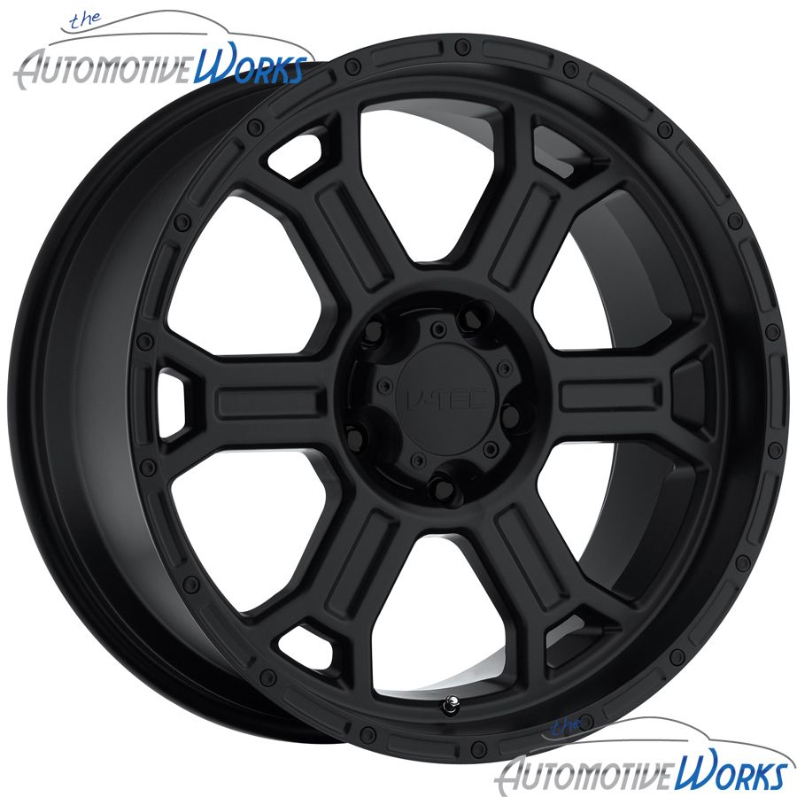Tec Raptor 6x139 7 6x5 5 25mm Matte Black Wheels Rims inch 17